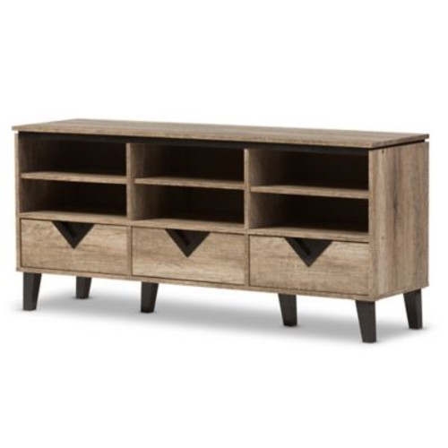 Baxton Studio Wales TV Media Stand in Light Brown