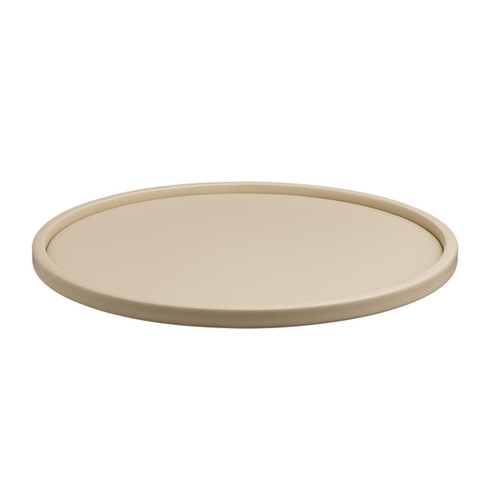 Kraftware Contempo 14-inch Round Serving Tray with .5-inch Rim