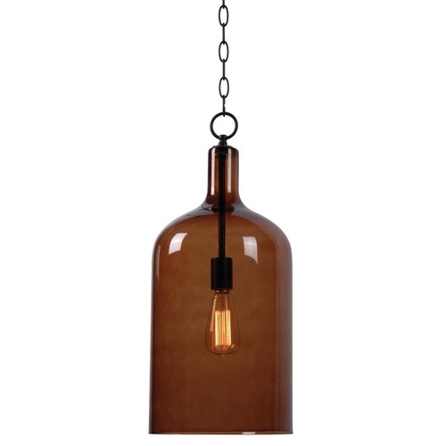 Kenroy Home 91830AMB - Capri 1 Light Pendant Oil Rubbed Bronze Finish