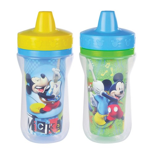 The First Years Insulated Sippy Cup - Mickey - 9 oz - 2 Pk, Size 8 - 10 oz