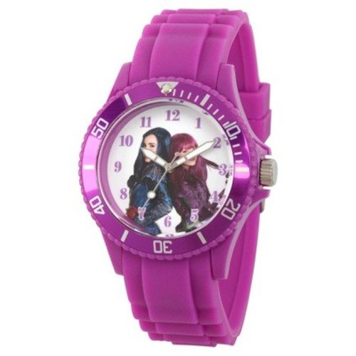 Women's Disney Descendants 2 Mal and Evie Purple Plastic Watch - Purple