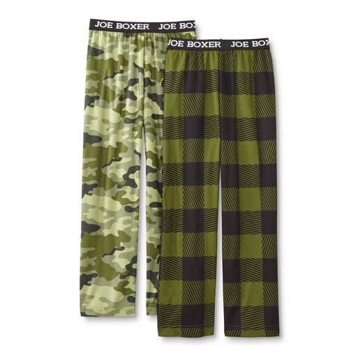 Joe Boxer Boys' 2-Pairs Pajama Pants - Checkered & Camouflage