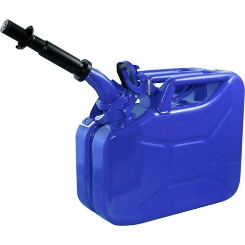 Wavian Leakproof Steel Gas Can  10-Liter, Blue, Model# 3023