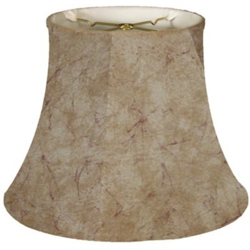 RoyalDesigns Timeless 15'' Faux Leather Bell Lamp Shade