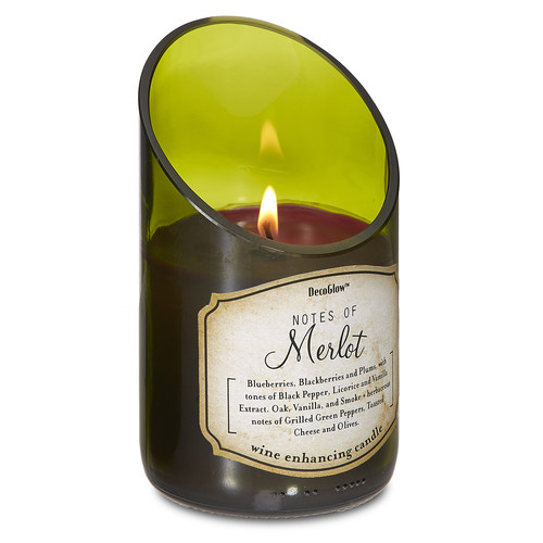 8 Oz. Wine Bottle Poured Scented Candle