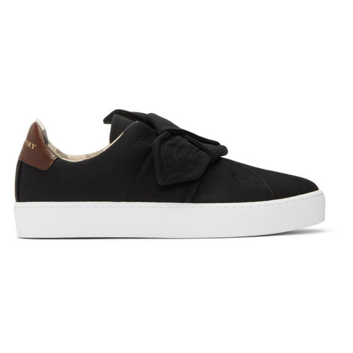 BURBERRY Black Westford Knot Slip-On Sneakers