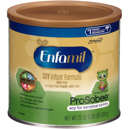 Enfamil ProSobee Infant Formula, Soy, for Sensitive Tummy, 25.7 oz (729 g)