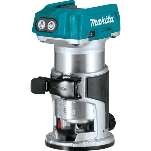 Makita 18-Volt LXT Lithium-Ion Brushless Cordless Variable Speed Compact Router with built-in LED light (Tool Only)