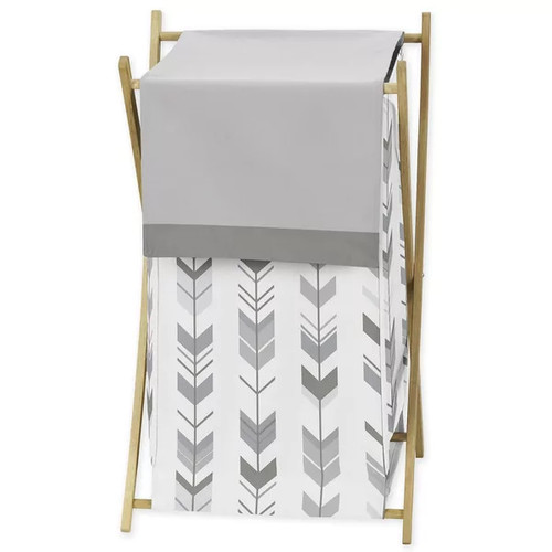 Sweet Jojo Designs Laundry Hamper for the Grey and White Mod Arrow Collection