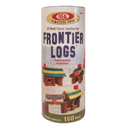 Ideal Frontier Logs Classic All Wood 160-Piece Construction Set