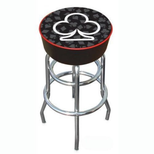 Trademark Global Four Aces Club Logo Padded Bar Stool