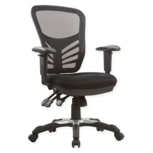 Manhattan Comfort Governor Office Chairs in Black (Set of 2)