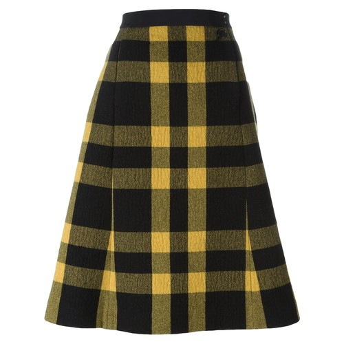 MAISON MARGIELA Checked A-Line Skirt