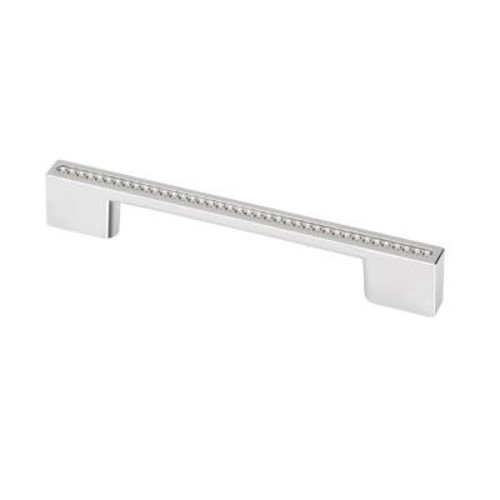 TOPEX Swarovski Crystal Collection 5.37 in. Chrome and Crystal Cabinet Pull