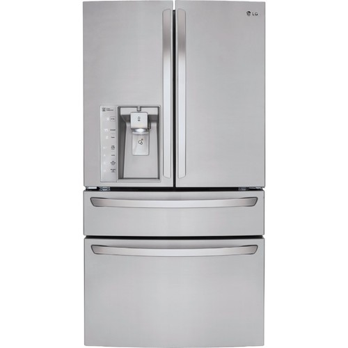 LG 30 cu ft Super Capacity 4-Door French Door Refrigerator with CustomChill Drawer - Stainless Steel
