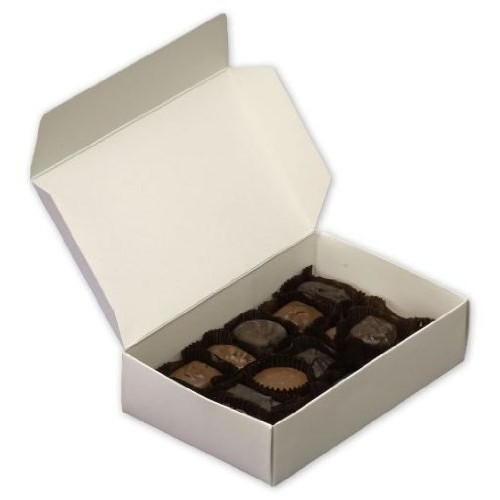 White One-Piece Candy Boxes 5 1/2 x 2 3/4 x 1 3/4