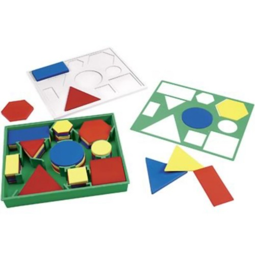 Tangrams & Pentominoes, Learning Resources Attribute Block Set