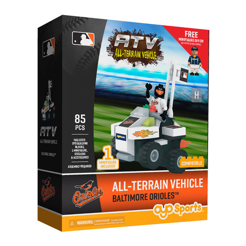 OYO Sports MLB All-Terrain Vehicle with Super Fan Baltimore Orioles Building Set