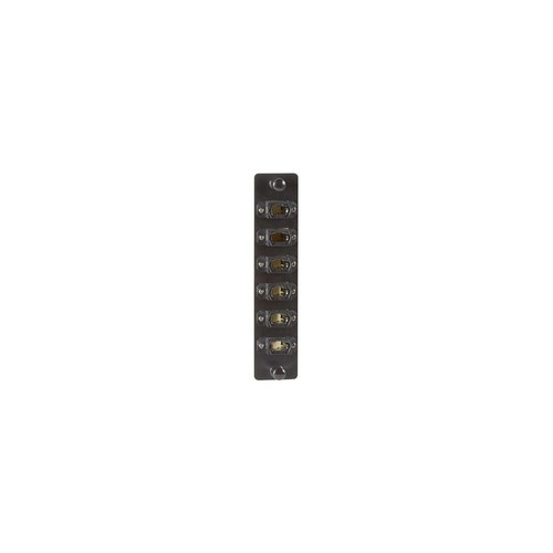 Black Box JPM470 High-Density Adapter Panel 6 Mt Style Mpo Connectors Black