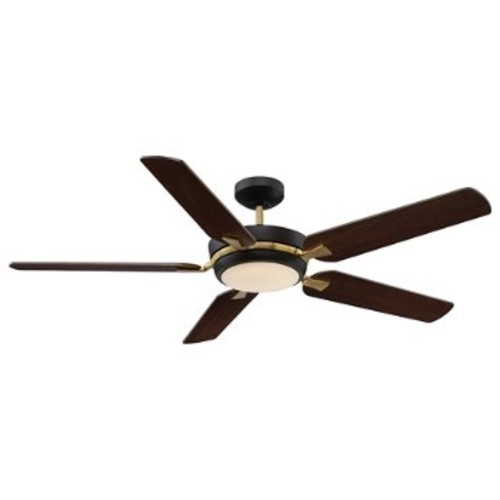Montrose Ceiling Fan [Fan Body and Blade Finish : English Bronze and Warm Brass finish with Chestnut/Teak blades]