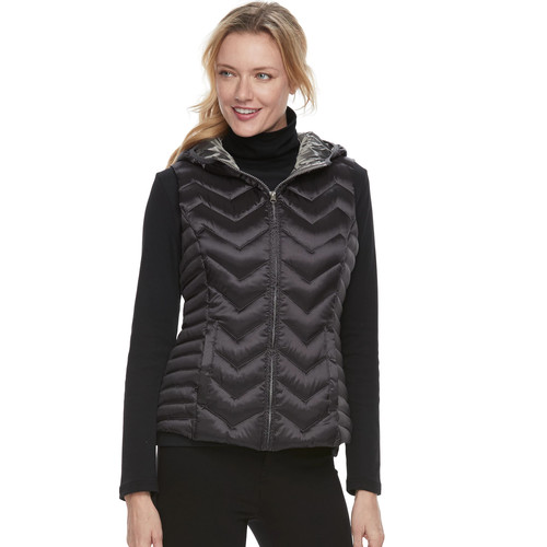 Women's Be By Blanc Noir Hooded Packable Down Vest