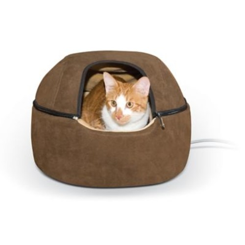K&H Manufacturing Thermo-Kitty Hooded/Dome Bed; Small - 16'' L x 16'' W