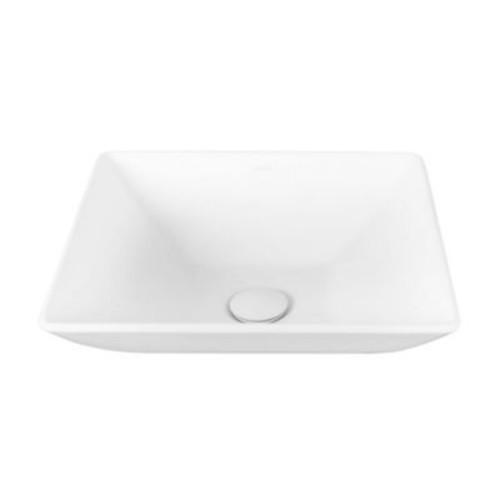 Vigo VG04004 Matira Glass Vessel Sink in White