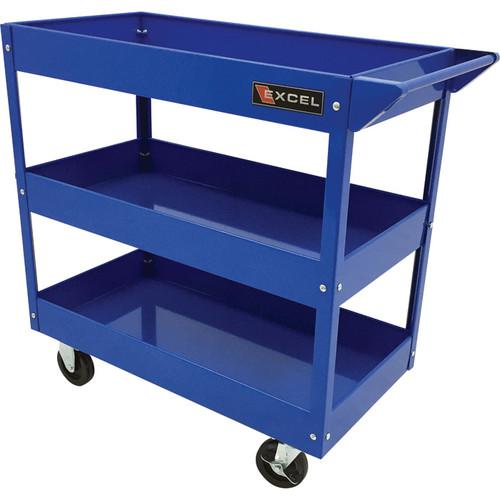 Excel Rolling Tool Cart  300-Lb. Capacity, Blue, Model# TC301A-BLUE
