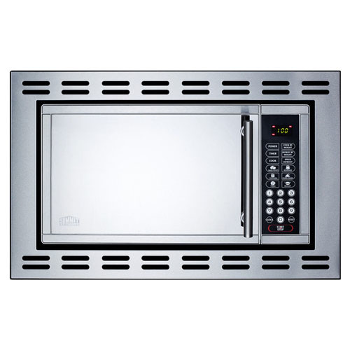 SUMMIT 0.9-cu. ft. built-in microwave - Stainless steel - 900 W - OTR24