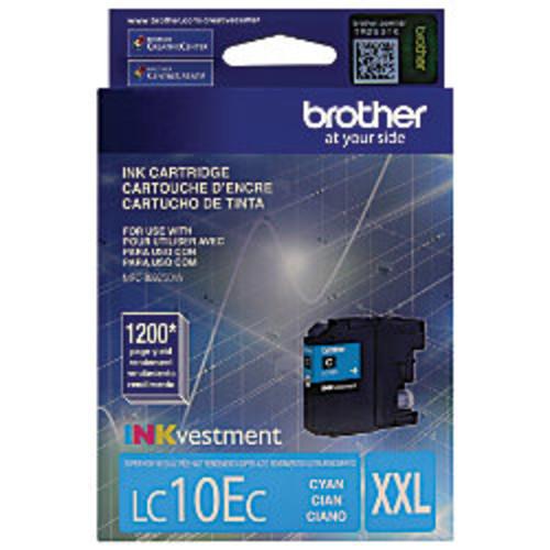 Brother LC10EC High-Yield Cyan Ink Cartridge