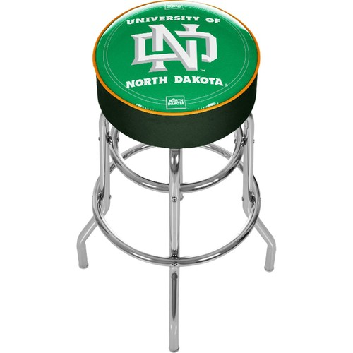 Trademark Games North Dakota Fighting Hawks Padded Bar Stool