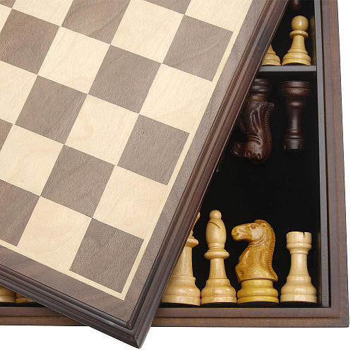 Pavilion Games Deluxe Wooden Chess Set