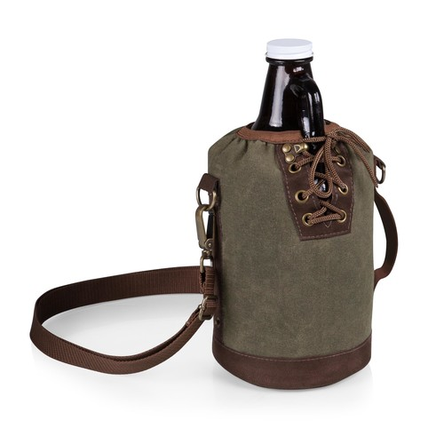 Growler Tote with 64 oz Glass Growler