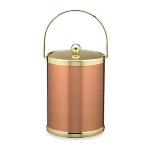 Kraftware Americano Copper & Brass 5-Quart Ice Bucket with Metal Bale Handle
