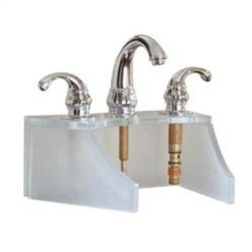 DecoLav Drains and Accessories Frosted Glass Faucet Stand; Copper
