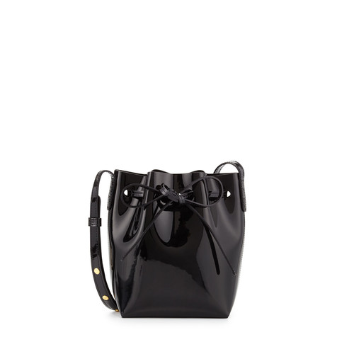 Mini Mini Patent Leather Bucket Bag