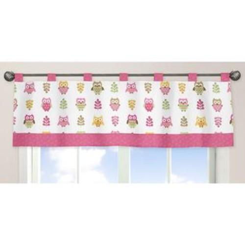 Sweet Jojo Designs Happy Owl Collection Window Curtain Valance