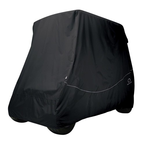 Classic Accessories Fairway Short Roof Golf Car Quick-Fit Cover Black