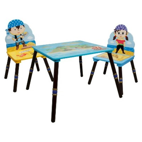 Fantasy Fields Pirates Island Table with 2 Chairs Set - Captain/First Mate