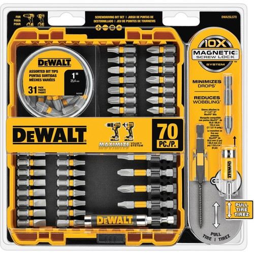 DEWALT MAXFIT Driving Bit Set (70-Piece)
