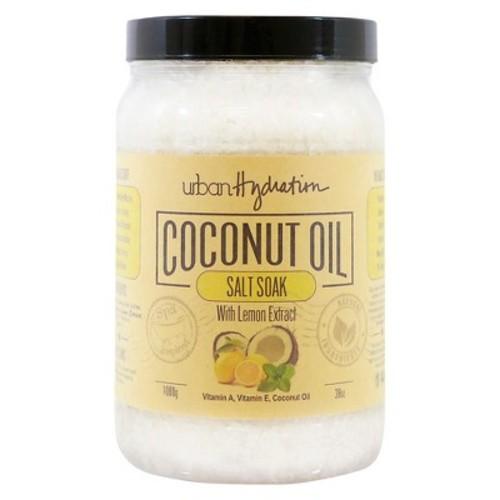 Urban Hydration Coconut Oil Lemon Extract Salt Soak 38 oz