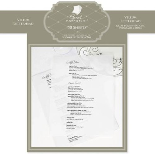 Great Papers White Translucent Letterhead, 50/Pack