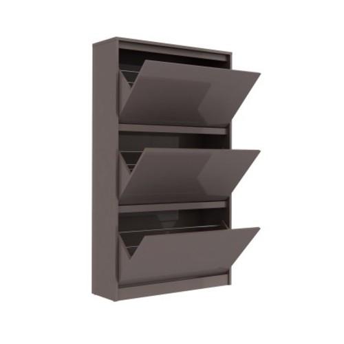 Tvilum Bright White/Espresso MDF 3-drawer Shoe Cabinet
