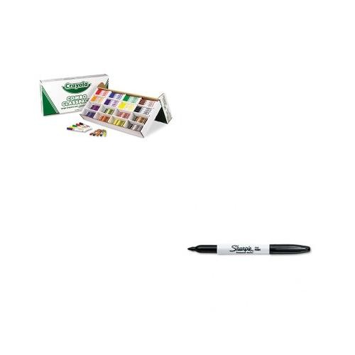 Crayolaamp;reg; - Classpack Crayons w/Markers, 8 Colors, 128 Each Crayons/Markers, 256/Box - Sold As 1 Box - Combines 128 crayons and 128 washable, broadline markers in one handy pack.