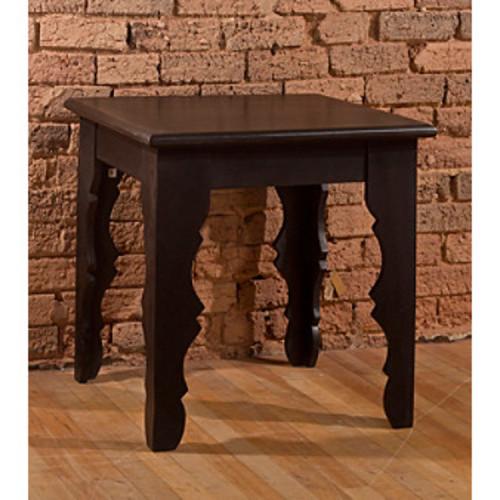 Keegan End Table - Distressed Black Finish