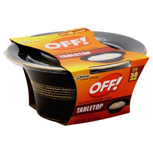 Off Citronella Candle, Triple Wick, Tabletop 23 oz (1 lb 7 oz) 652 g