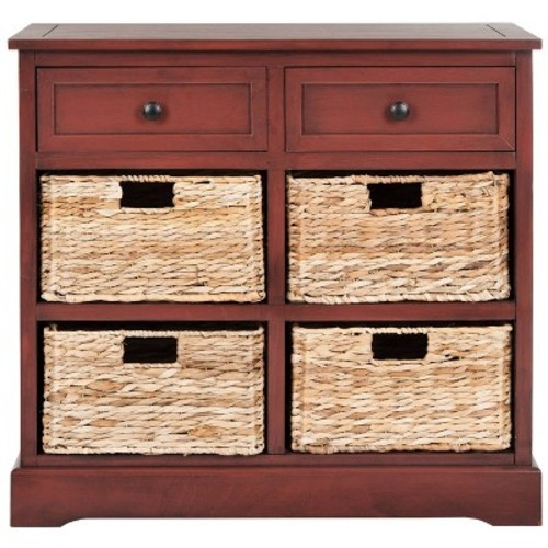 Storage Cabinet Red - Safavieh