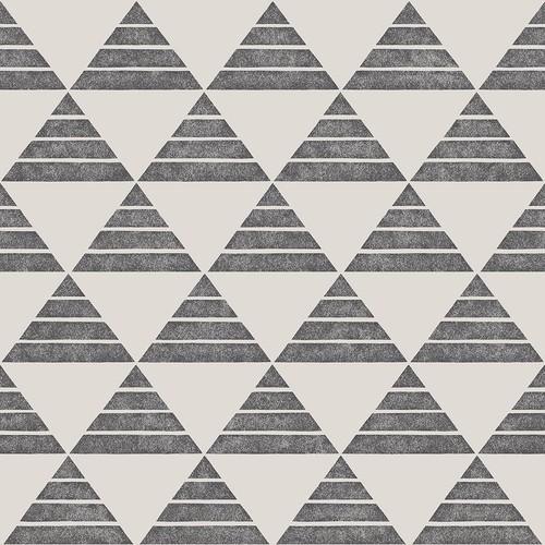 A-Street Summit Charcoal Triangle Wallpaper