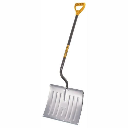 True Temper 18-Inch Aluminum Snow Shovel - 1641200 [18-Inch Aluminum Blade - Steel Handle]
