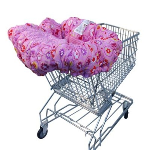 Floppy Seat Shopping Cart Cover in Light Pink